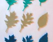 54 Piece Die Cut Felt Leaves
