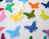 48 Piece Die Cut - Small Felt Butterfly- Mixed Bright Colors, Spring Easter Themes