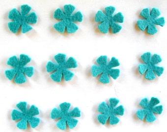 48 Piece Die Cut - Small Felt Flowers