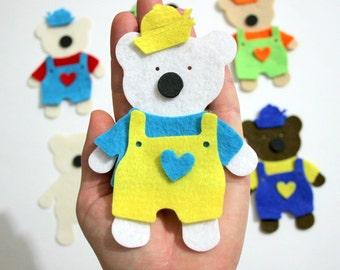 DIY, 6 Set, 36 Pieces Sailor Clothing, Felt Dress Up Teddy Bear