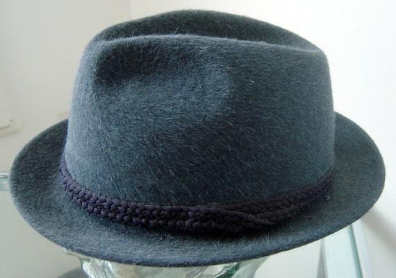 Lee Royal stingy brim Blue Fedora vintage beaver felt Hat 7 1/8 medium NOS Mint