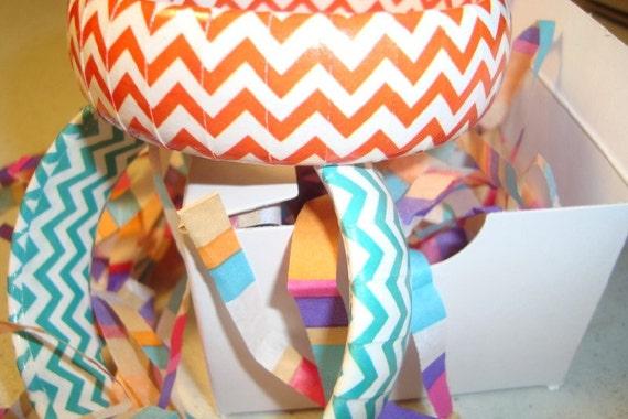 Chevron design bracelets in colorful Zigzag print