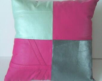 Leather throw cushion 1104
