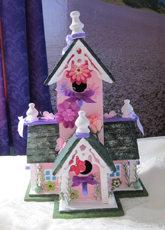 Items Similar To Victorian Butterfly House Birdhouse