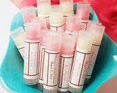 SALE - 90 Custom Lip Balm Bridal Shower Favors Lip Gloss - Personalized Baby Shower Favor Custom Wedding Favor