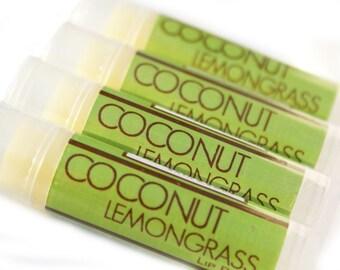 CLEARANCE SALE - Coconut Lemongrass Lip Balm - Beeswax Lip Balm with Shea Butter