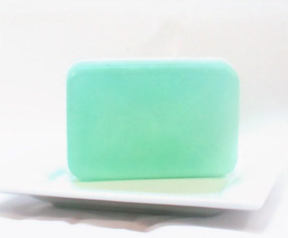 Oasis for Men Scented Luxury Glycerin Soap - Vegan Soap Bar - Mint Green Soap - Cool Water Soap - Men's Soap - Handmade Soap - tbteam