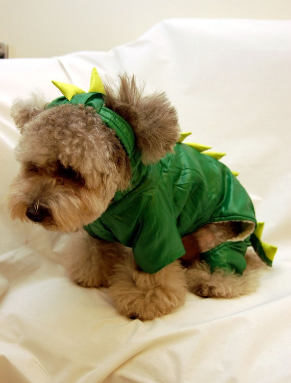 Godzilla Dinosaur Dragon Costume Outfit for Small Dogs and Pets (Size XS)