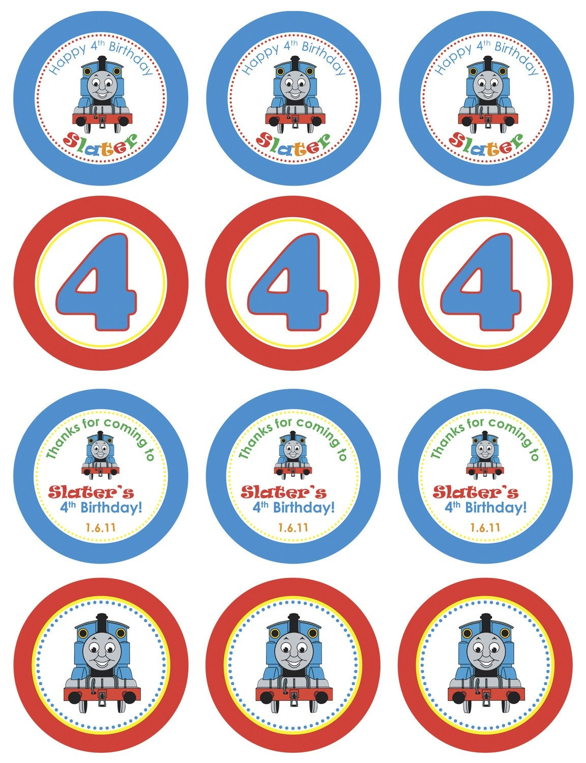 It's just a graphic of Dynamite Free Printable Thomas the Train Cup Cake Toppers