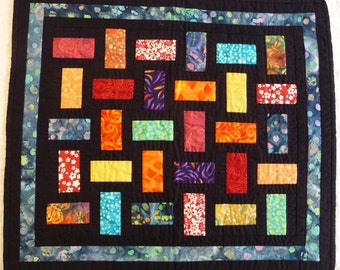 Stained Glass Quilt, wall hanging, art quilt