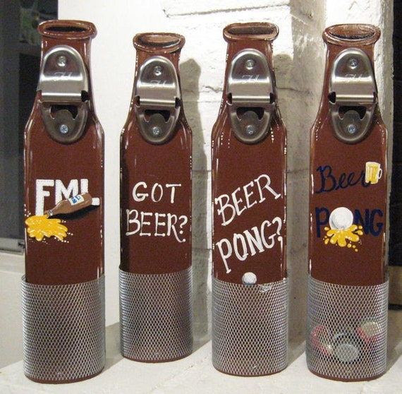 Items Similar To Beer Bottle Opener With Cap Catcher On Etsy