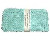 Robin's Egg Blue Set of 2 Hand Knit Dish Cloths