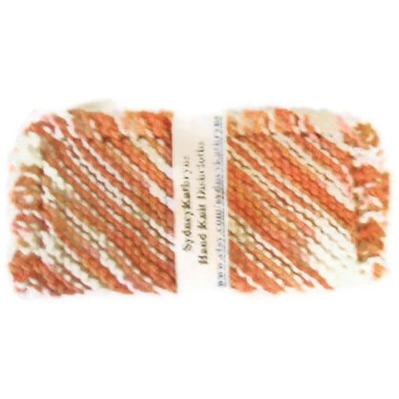 Hand Knit Dish Cloths  Poppy (Peachy/Orange)