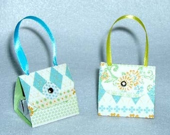 Set of 12 Garden Flowers Purse Party Favors with Hershey Nugget Candy