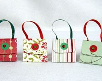 Set of 6 Christmas Purse Party Favors