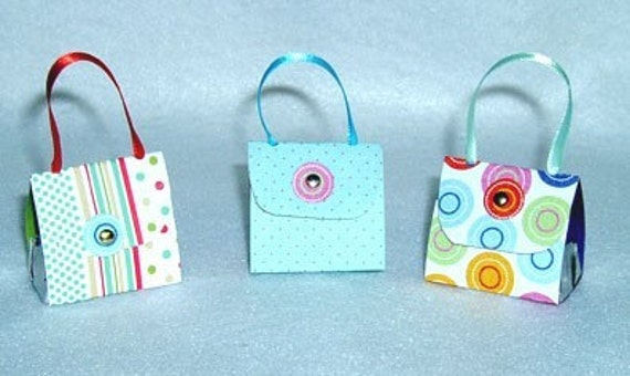 Set of 6 Purse Party Favors with Hershey Nugget Candy