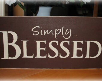 Wood sign - Simply Blessed