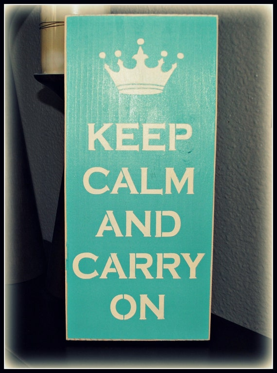 Wood Sign - Keep Calm And Carry On
