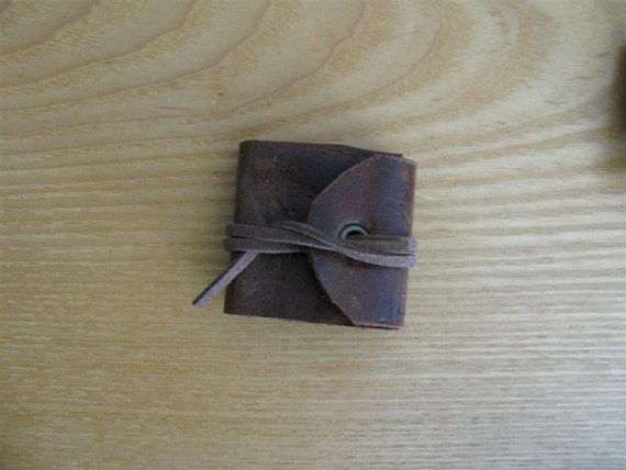 Genuine Leather Mini Journal for Diorama, BJD, Tonner, Steampunk Accessory