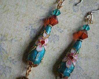 Cloisonne'  Earrings