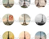 SALE!!!INSTANT Download - Eiffel Tower Printable Digital Collage Sheet (3) for 18mm Charms -  - Digital Download
