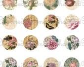 SALE!!!Carte Rose Digital Collage Sheet for 18mm Charms (1) Digital Download -  - INSTANT Download