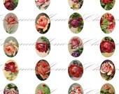 SALE!!!Old Rose (1) Digital Collage Sheet - 18mm x 13mm for Charm Pendants - INSTANT Download -  - Digital Download