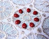 Eight lady beatle beads