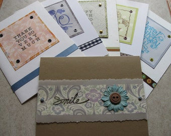 layered papers any occasion greeting card set