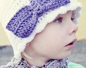 Crochet Bow Beanie PDF Pattern newborn-adult