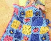 Crochet Baby Flower Afghan PDF Pattern
