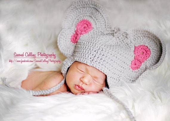 Crochet Pattern For Baby Elephant Hat : PDF Crochet Elephant Hat Crochet Pattern Hat by ...