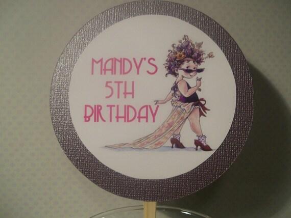 Fancy Nancy Cake Topper Design 1