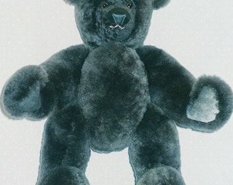 Handmade real Fur grey Bear.on sale