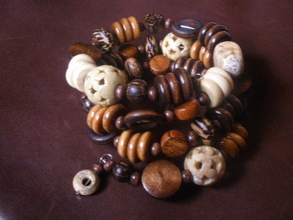Free shippng anywhere in the U S - Earthy wrist wrap bracelet