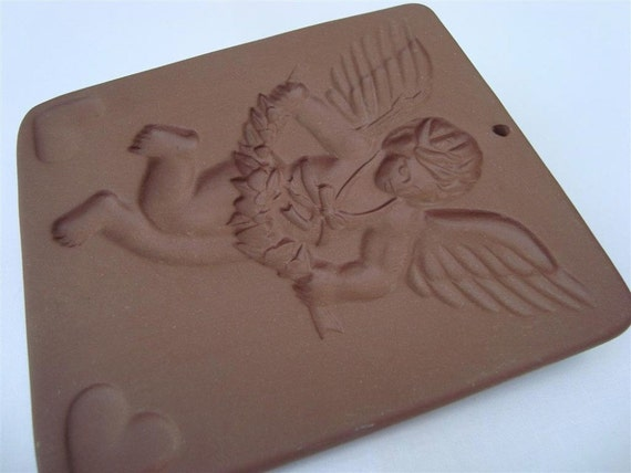 Cherub Archer Cookie Mold Hartstone Vintage Clay By