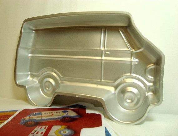 Wilton Van Cake Pan 1978 Vintage 502 7652 Bus By Threeoldkeys