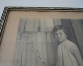 Vintage Framed Photograph of Young Girl Montreal 1930's