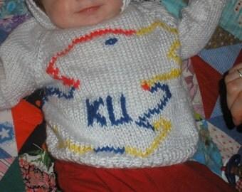 Jayhawk Baby Sweater