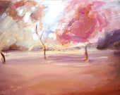 Pink Trees - Original Painting -RESERVED for Denise-