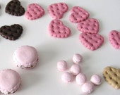 Reserved for beckynot - 10 Tiny Macarons by glamazon08 on Etsy