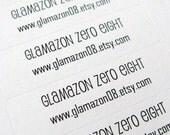 Custom Order for HomeBrewedSpa - Shop Eco-Friendly Mini Sticker Labels - Set of 80 x 7 by glamazon08 on Etsy