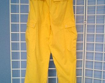 80's Yellow Italian Designer Pants