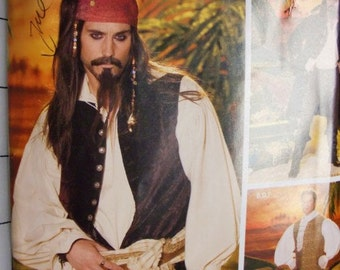 Pirate Costume Patterns for Adults Halloween, Cos Play,  Simplicity 0508 LG and XL Men's Costume