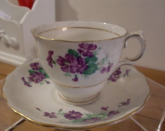 Registered Vintage COLCLOUGH Tea Cup and Saucer Collectible