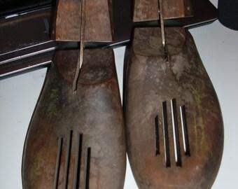 Antique Shoe Lasts Wooden Shoe Makers Mold Cobblers Form