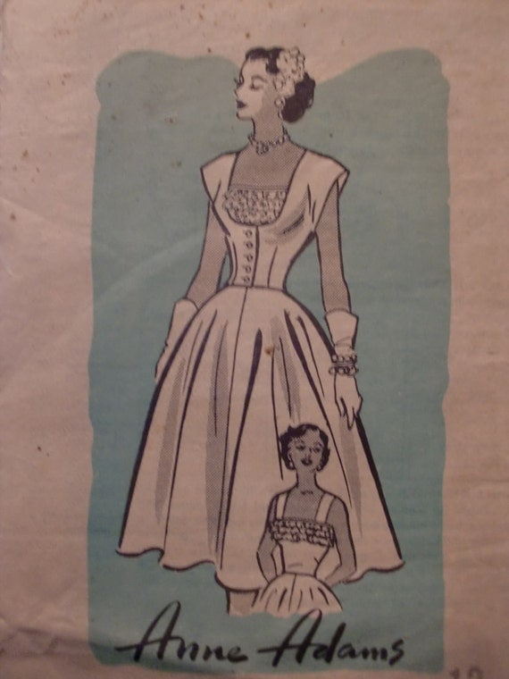 Vintage Anne Adams Women's Wiggle Rockabilly Mad Men Dress Pattern R2552 Size 12