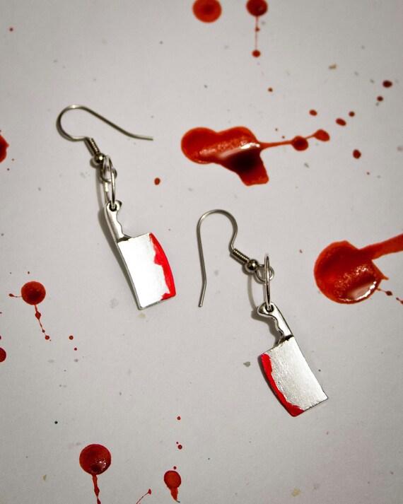Cleaver Butcher Knife Earrings