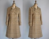 vintage 1960s designer Pendleton Harriet The Spy wool plaid trench coat