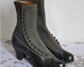 vintage antique 1900s boots / rare button down Edwardian boots / Hocus Pocus